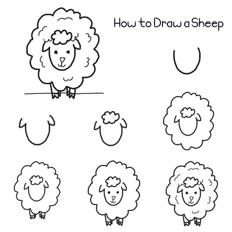 Easy Way To Draw A by How To Draw A Sheep In 7 Easy Steps