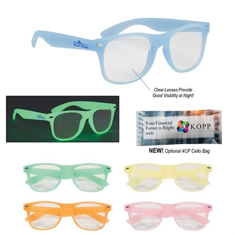 Softlens Glow In The Series Illuminant Lense Normal Only imprinted glow in the glasses with clear lenses usimprints