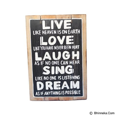 Tulisan Kayu Strong Hiasan Diding jual smesco trade lukisan papan tulisan live laugh sing murah bhinneka