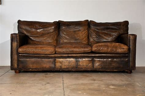 weathered leather sofa weathered leather distressed