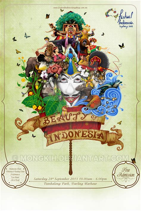design poster indonesia festival indonesia sydney 2013 promotional poster by