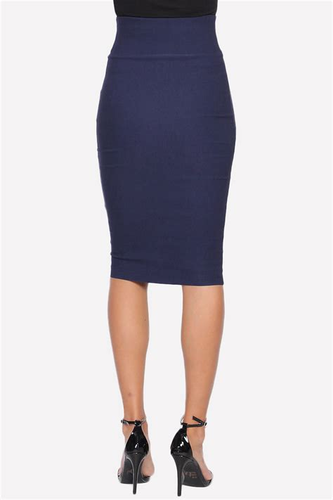 themogan wear to work high waisted stretch woven knee