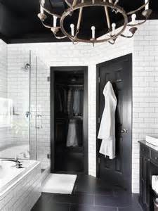 timeless black and white master bathroom makeover