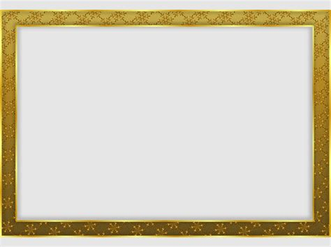 frame template gold snowflake frame backgrounds for presentation ppt