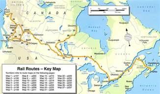 trans canada railway map trans canada rail guide stanfords