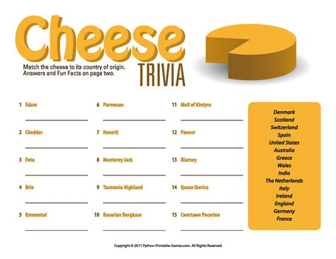 printable games for elderly adult picnic game printable cheese trivia quiz picnic