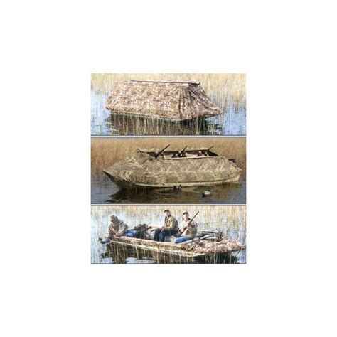 duck island boat blind pacific outdoors duck island boat blind cover camo di10m4