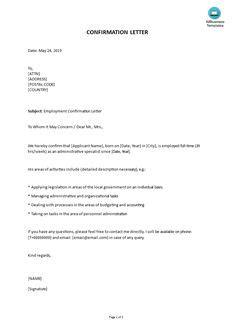 confirmation letter images   confirmation