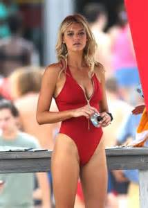 Back to post kelly rohrbach in red swimsuit filming baywatch