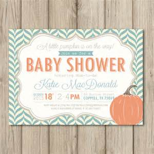 fall baby shower invitation pumpkin baby shower invitation