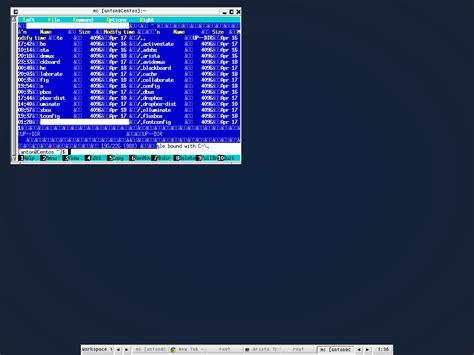 L Centos by Minimal Linux Centos 6 Rhel Install Midnight Commander