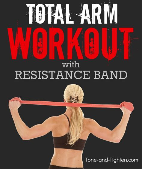 total arm workout with resistance band at home tone and