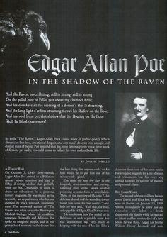 edgar allan poe biography article quoth the raven quot nevermore quot edgar allen poe books