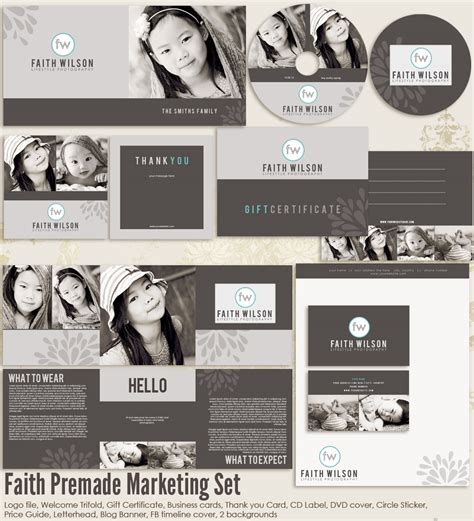 photography marketing templates faith premade photography marketing set templates ms