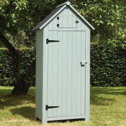 wooden sentry box garden tool storage shed narrow
