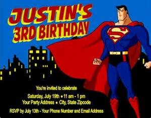 superman birthday card template superman birthday invitations personalized custom