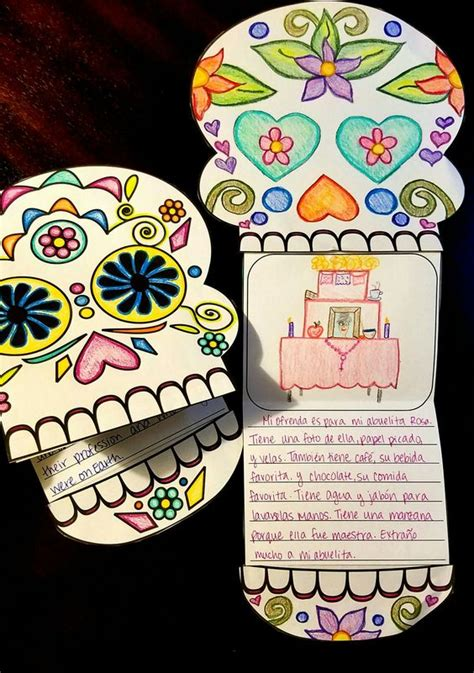 Dia De Los Muertos Essay by D 237 A De Los Muertos Day Of The Dead Writing Template Dia De Ideas And The Dead