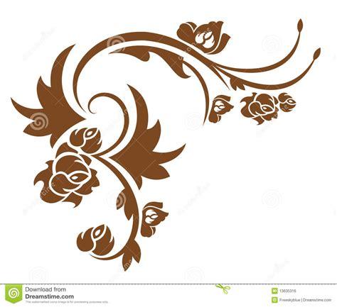 Western Drapery Brown Flower Pattern Royalty Free Stock Image Image
