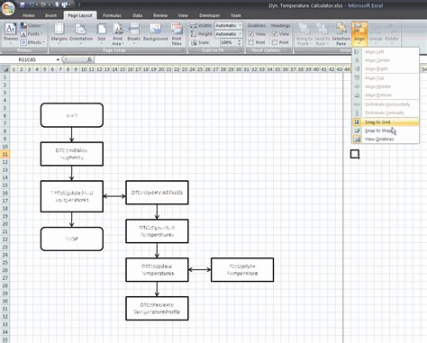 flowchart excel krishnababu flow charts with excel tips