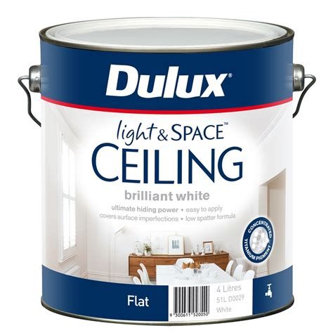 Dulux Light And Space dulux 4l light space white ceiling paint bunnings