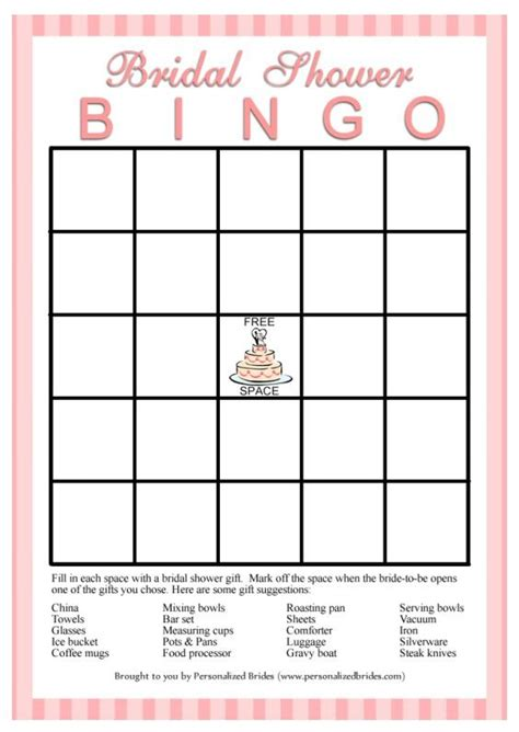 bridal shower bingo card template bridal bingo template madinbelgrade