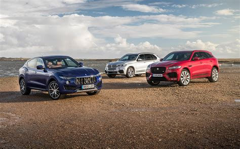 maserati levante vs jaguar f pace vs bmw x5 2017 review