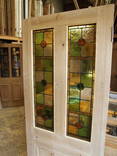 Pretty Antique Victorian Stained Glass Front Door Antique Glass Doors