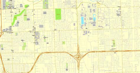 map us detroit detroit michigan printable map us printable vector