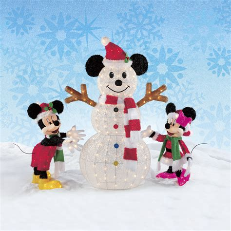 christmas disney mickey minnie mouse decorating the