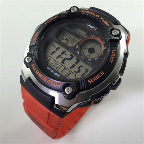 Casio Ae 2100 4av s casio world time digital sports ae2100w 4av