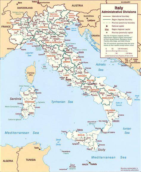 d italia cartina regione d italia