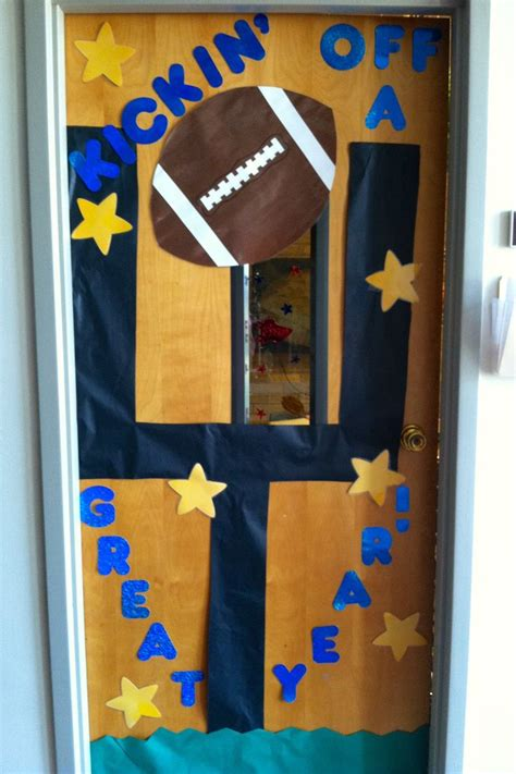 sports themed door decorations 17 best ideas about football bulletin boards on