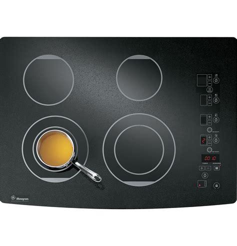 monogram cooktop zeu30rbfbb ge monogram 174 30 quot digital electric cooktop