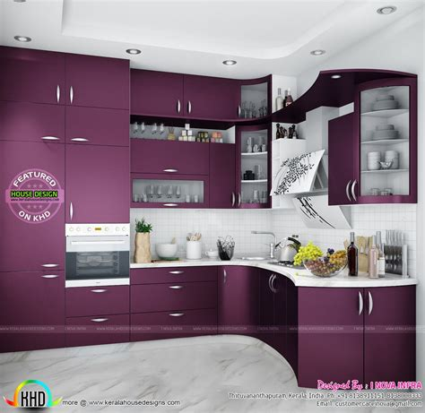 Www Kitchen Interior Design Photo Modular Kitchen Kerala Home Design Simple Idolza