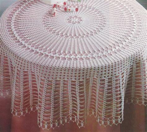 nappe ronde au crochet nappe au crochet nappe crochet crochet nappe ronde et ovale le blog de crochet et