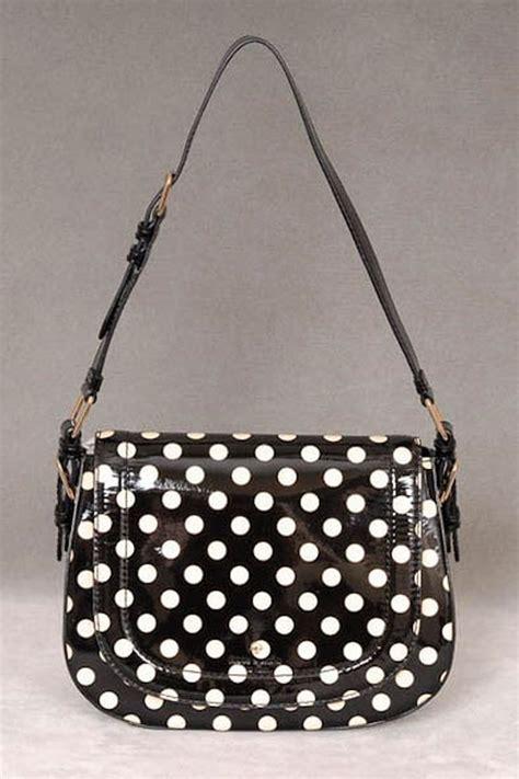 Kate Spade Polka kate spade polka dot handbag in black and white my addiction purses