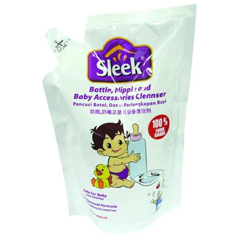 Sleek Bottle 450 Ml hypermart sleek baby bottle cleanser 450ml