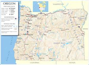 oregon map oregon state map oregon state road map map