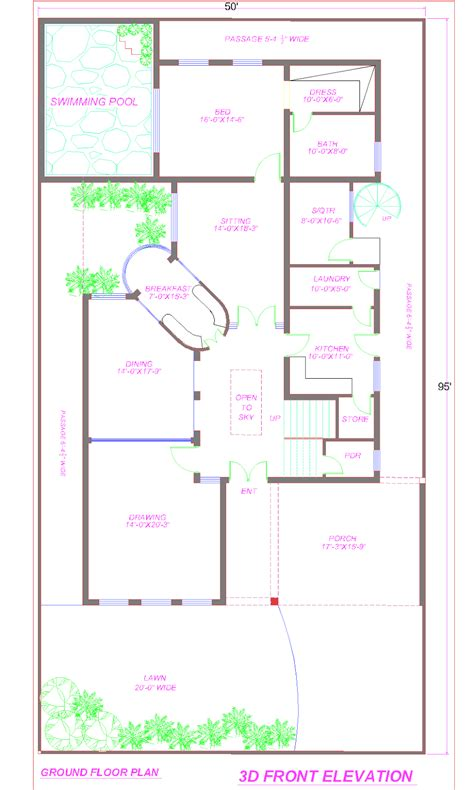 1 kanal plot house design europen style in bahria town 3d front elevation com 1 kanal house plan with swimming