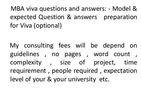 Mba Viva Questions project report titles for mba in marketing