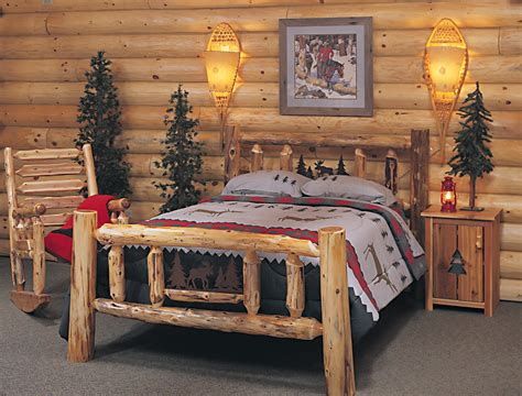 log cabin bedroom furniture bedroom bed with railing footboard images about the on