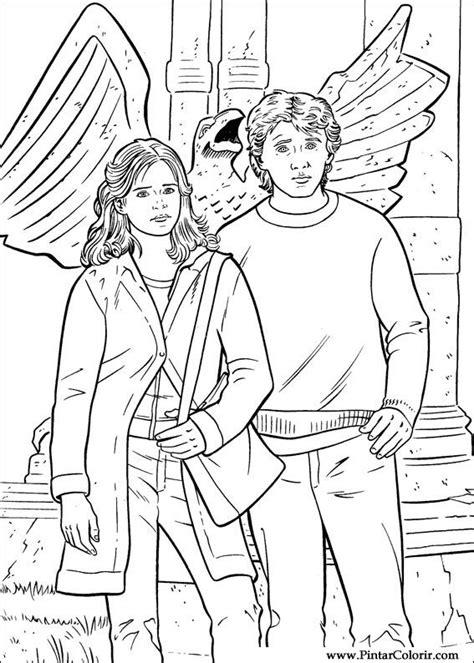 Tekeningen te schilderen & Kleur Harry Potter - Print