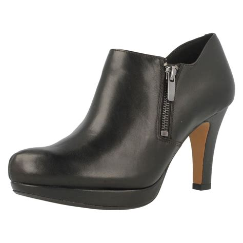boots shoes clarks leather shoe boots with high heel and