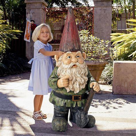 Air Plant Vases Gigantic Garden Gnome Statue The Green Head