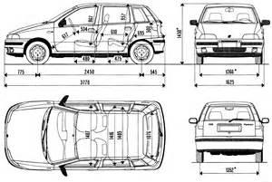 Fiat Punto Dimensions The Blueprints Blueprints Gt Cars Gt Fiat Gt Fiat Punto