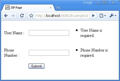 java pattern phone validation tutorials for java struts springs hibernate mysql