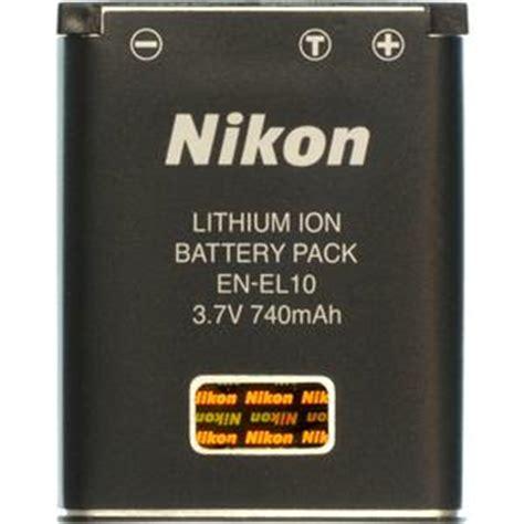 Nikon Battery En El10 740mah nikon en el10 rechargeable li ion battery