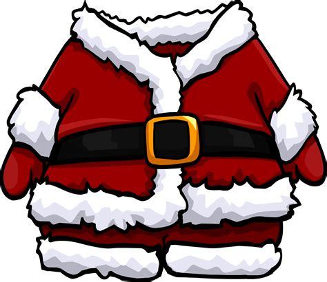 printable santa outfit santa jacket clipart clipartxtras