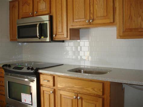 subway tile kitchen backsplash clean  simple kitchen