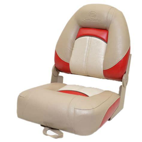 boat seats target sun tracker beige red off white vinyl marine boat